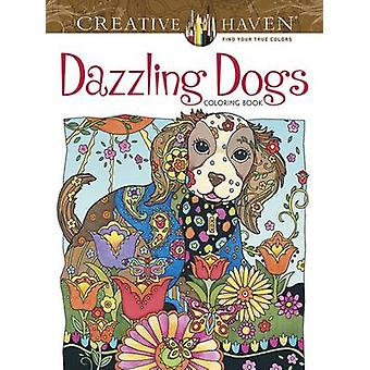 Creative Haven Dazzling Dogs Coloring Book by Marjorie Sarnat - 97804