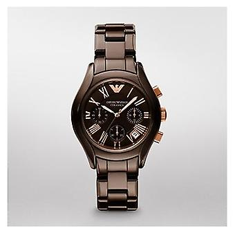 Emporio Armani Ar1447 Brown ceramica quarzo Ladies ultimo orologio