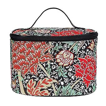 William morris - the cray makeup bag by signare tapestry / toil-cray