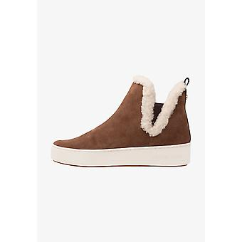 Michael Kors Womens Ashlyn Leather Low Top Pull On Fashion Sneakers
