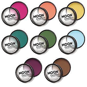 Moon Creations - Pro Face & Body Paint Cake Pots - Adventure Colours Set (Magenta, Apricot, Golden Sand, Teal, Grass Green, Light Blue, Wild Berry, Mid Brown)