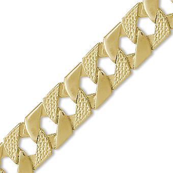 Jewelco London Men's Solid 9ct Yellow Gold London Lizard Curb 22mm Gauge Hand Assembled Cast Chain Necklace Jewelco London Men's Solid 9ct Yellow Gold London Lizard Curb 22mm Gauge Hand Assembled Cast Chain Necklace Jewelco London