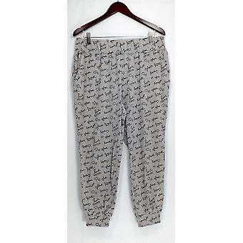 AnyBody Petite Lounge Pantalones, Dormir Shorts MP Cozy Knit Pajama Pantalones Gris A298207