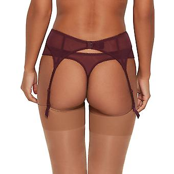 Gossard 7712 Women's Superboost Lace Fig Purple Suspender Belt