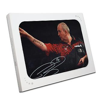 Phil Taylor Signed Darts Photo: 2018 World Darts Championships In Gift Box
