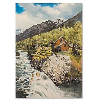 Canvas, Picture on canvas, mountain landscape