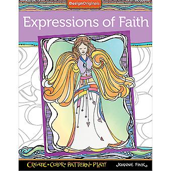 Design Originals-Expressions Of Faith Coloring Book DO-5618