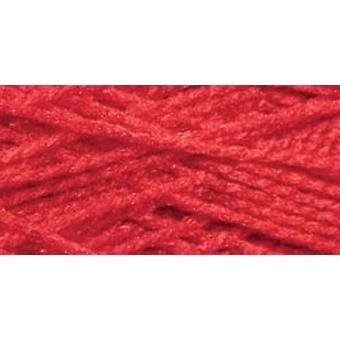 Needloft Craft Yarn 20 Yard Card Christmas Red 510 02
