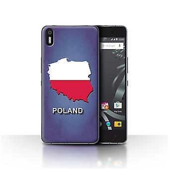 STUFF4 Case/Cover for BQ Aquaris X5/Poland/Polish/Flag Nations