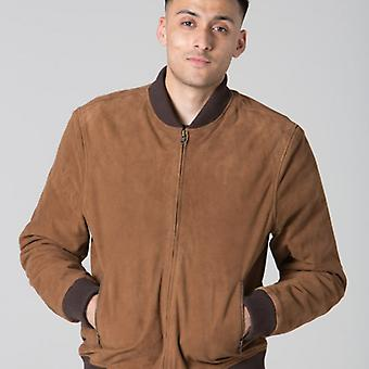 Polar Whites Mens Brown Suede Jacket l : l