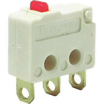 Microswitch 250 Vac 5 A 1 x On/(On) Burgess F4T7Y1UL IP40 momentary 1 pc(s)