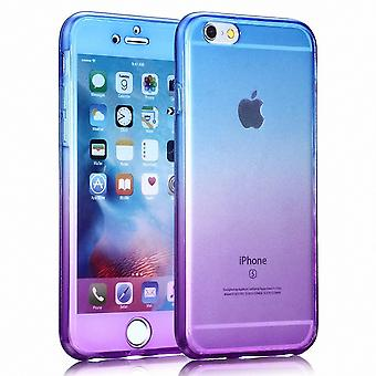 Crystal case cover for Samsung Galaxy J1 2016 blue purple frame full body
