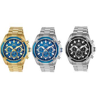 Invicta mäns Aviator rostfritt stål kronograf Watch