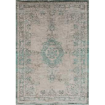 Distressed Jade Oyster Cotton Medallion Rug - Louis De Poortere 80x150