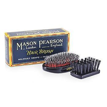 Mason Pearson Boar Bristle & Nylon - Medium Junior Military Nylon & Bristle Hair Brush (Dark Ruby) - 1pc