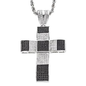 Iced out bling MICRO PAVE pendants - XXL cross black