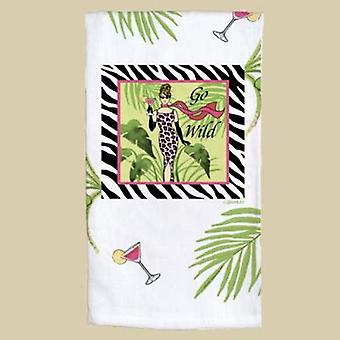 Girls Night Out Party Girls Go Wild Zebra Stripe Flour Sack Towel