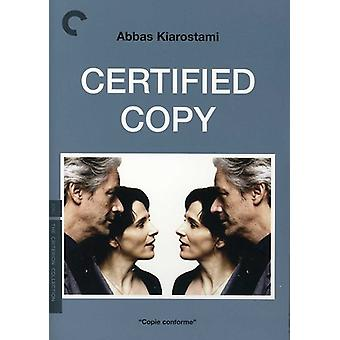 Certified Copy [DVD] USA import