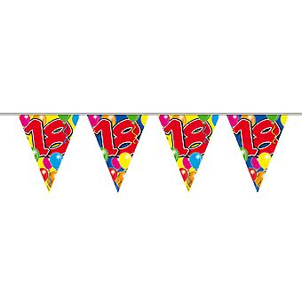 Pennant chain 10 m number 18 years birthday decoration party Garland