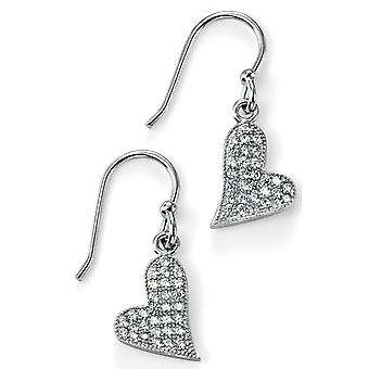 925 Silver Zirconia Heart Earring Trend