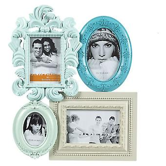 Bigbuy Portafotos Empire Vintage Coconut de 4 fotos (Home , Decoration , Frames)
