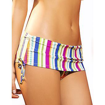 Womens Maria Bonita MultiColor striper skrive damer Foldover Bikini Bottom