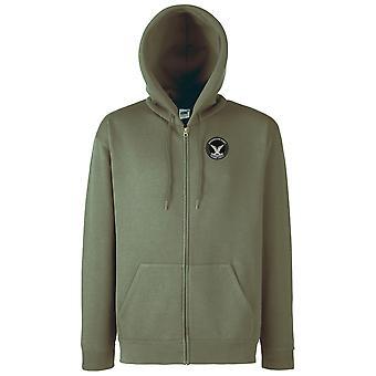 Esercito rodesiano Selous Scout forze speciali ricamato Logo - Felpa con cappuccio giacca con zippato