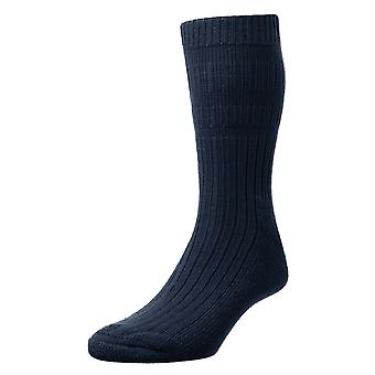 HJ Hall Mens Warm Acrylic Actifresh Sanitized Bed Socks With Smooth Toe Seam