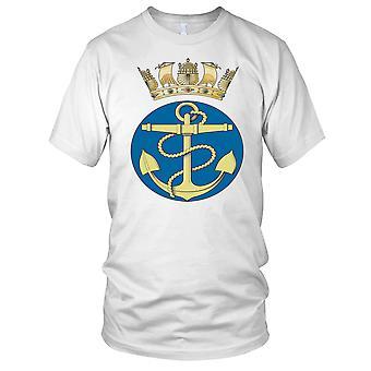 Royal Navy Fouled Anchor Naval Crown Mens T Shirt