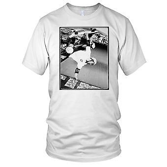 Skater Hand Stand Jump - B&W Skateboarder Skateboard Kids T Shirt