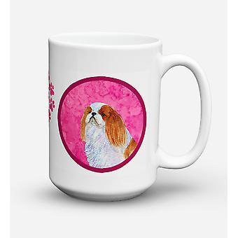 English Toy Spaniel lavastoviglie sicuro Microwavable Ceramic Coffee Mug 15 oncia SS