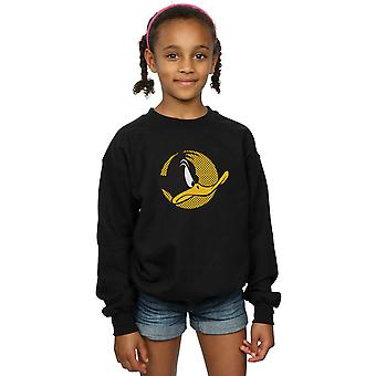 Looney Tunes Girls Daffy Duck Dotted Profile Sweatshirt