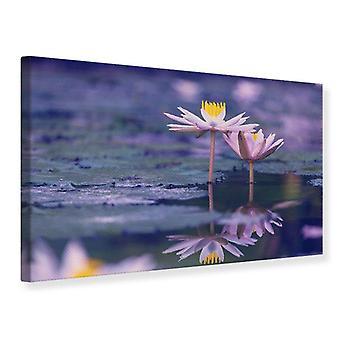 Canvas Print Lotus Duo In Sunrise