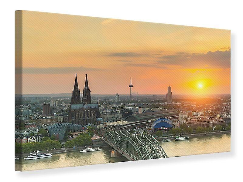 Toile imprimée Skyline couleurs au coucher du soleil