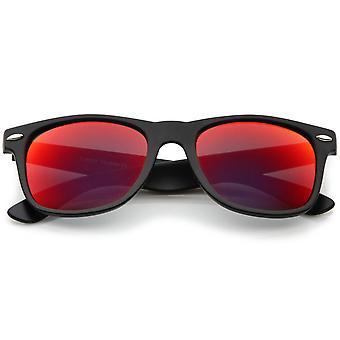 Mat Finish farve spejl linse store firkantede Horn kantede solbriller 55mm