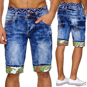 Boxer style denim men's jeans shorts shorts summer W29 - W38