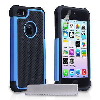 Yousave tilbehør Iphone 5 og 5s greb Combo sag - blå