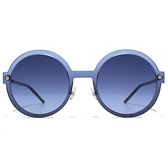 Marc Jacobs Contemporary Round Sunglasses In Blue