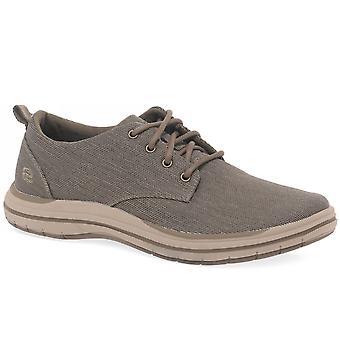 Skechers Elson Moten Mens Casual Lace Up Shoes