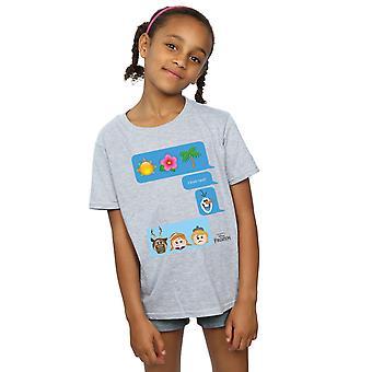 Disney Girls Frozen I Love Heat Emoji T-Shirt