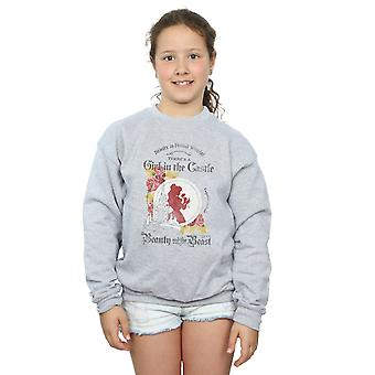 Disney Girls Beauty And The Beast Girl in The Castle Sweatshirt