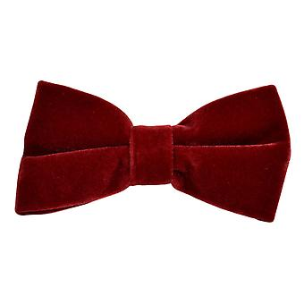 Dark Red Velvet Bow Tie