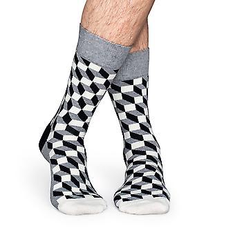 Happy Socks fyldt Optic strømper - grå