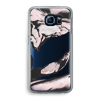 Samsung Galaxy S6 Transparent Case (Soft) - Pink stream