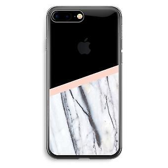 iPhone 7 Plus transparant Case (Soft) - een vleugje perzik