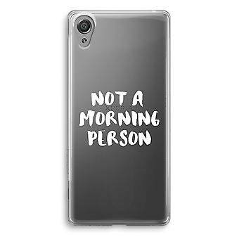 Sony Xperia XA1 Transparent Case - Morning person