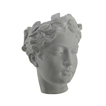 Classic Greek Lady Indoor/Outdoor Wall Mounted Cement Head Planter