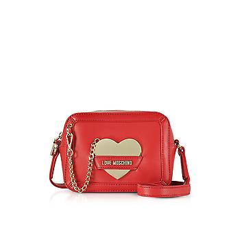 Love Moschino ladies JC4078PP15LI0500ROSSO red faux leather clutch