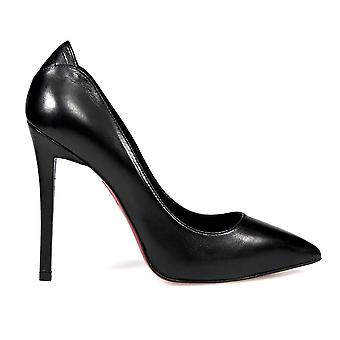 Franco Colli FC405BLACK ladies black leather pumps