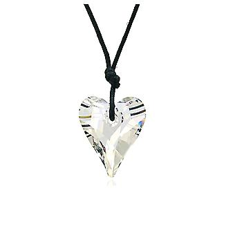 Necklace white of Swarovski Elements Crystal heart